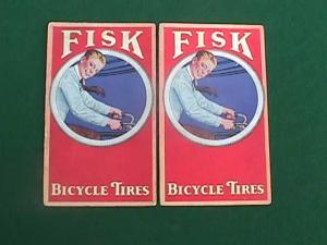 (2) Fisk Bicycle Tires Adver. Ink Blotters (Image1)