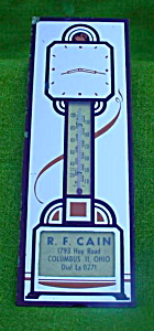 Adver. Clock Mirror Thermomter Columbus, Ohio (Image1)