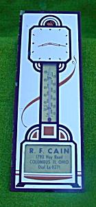 Adver. Clock Mirror Thermomter Columbus, Ohio (Image1)