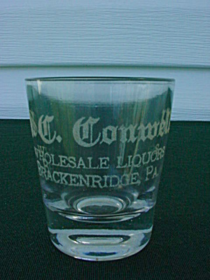 S.C. Conwell Brackenridge PA Adver Shot Glass (Image1)