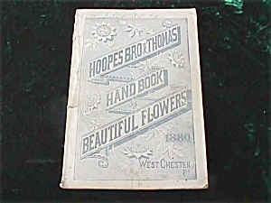 1880 Hoopes Thomas W Chester Pa Flower Book (Image1)