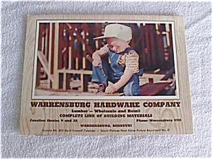 1959 Warrensburg, Mo Hardware Tool Calendar (Image1)