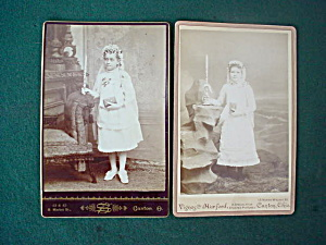 Pr Early 1st Communion Cabinet Card Photos