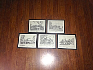 5 Prints U.S. Presidents Homes Scott Kiefer (Image1)