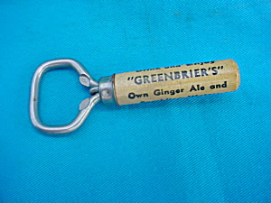 Greenbier's Bottle Opener/Cork Screw (Image1)