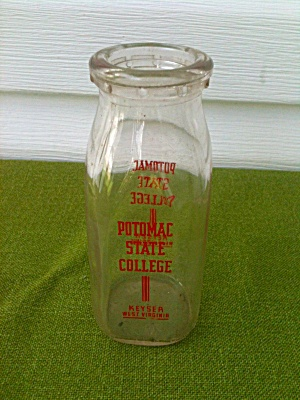 1/2 Pt. Potomac State College Milk Bottle WV (Image1)
