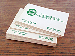 Business Cards Farm Dairy Co-Op West Virginia (Image1)