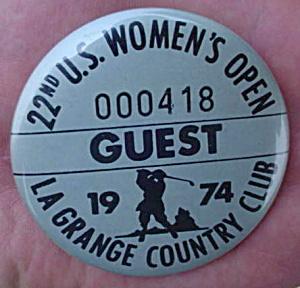 1974 U.S. Women's Open Golf Guest Pinback (Image1)