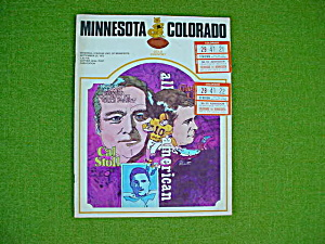 Minnesota v Colorado 9/23/72 Football Program (Image1)