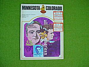 Minnesota v Colorado 9/23/72 Football Program (Image1)