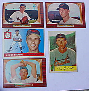 Baltimore Orioles 50's Baseball Cards (Image1)