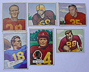 Washington Redskins 50s Bowman Football Cards (Image1)