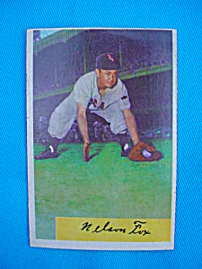 1954 Bowman Nellie Fox Baseball Card (Image1)