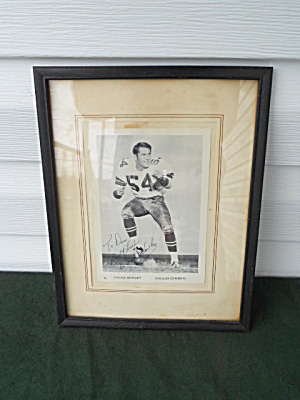 Chuck Howley Dallas Cowboys Autographed Photo