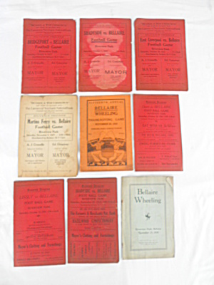 1920's Bellaire High School Football Programs (Image1)