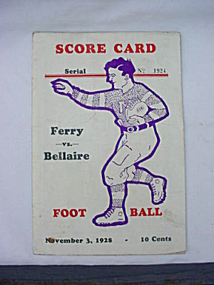 1928 Martins Ferry Bellaire Ohio Football (Image1)
