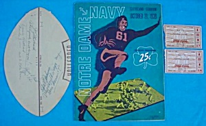 39 Notre Dame V Navy Football Program W/stubs