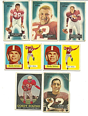 1950's San Francisco 49ers Football Cards (Image1)