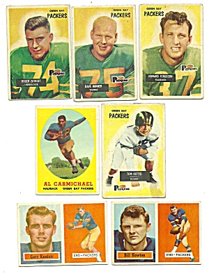 1950's Green Packers Football Cards (Image1)
