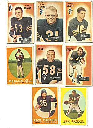 1950's Chicago Bears Football Cards