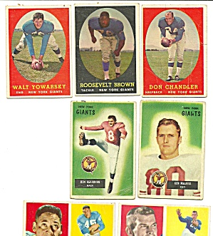 1950's New York Giants Football Cards