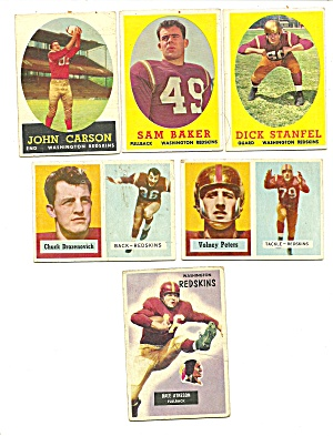 1950's Washington Redskins Football Cards