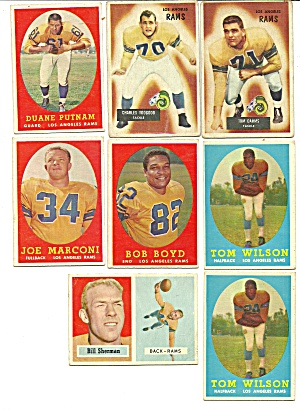 1950's Los Angles Rams Football Cards (Image1)