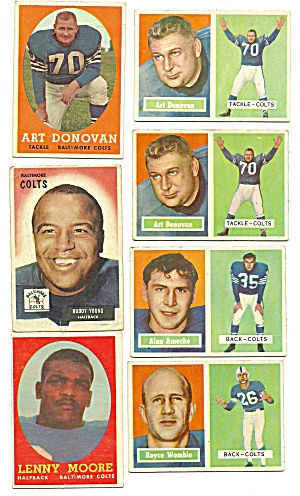 1950's Baltimore Colts Football Cards