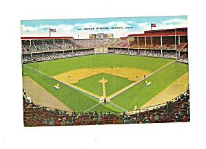 Old Postcard Briggs Stadium Detroit Tigers