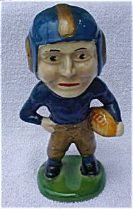 40s Football Player Pottery Coin Bank--Ohio (Image1)