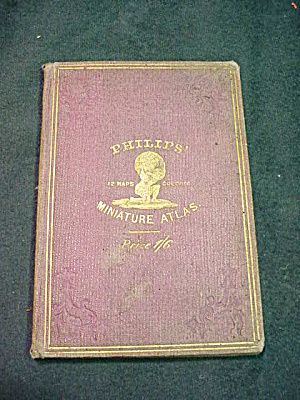 Philips Miniature Atlas 12 Color Maps 1862 (Image1)