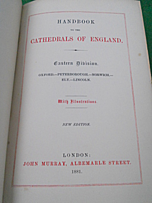 Cathedrals of England Handbook 1881  (Image1)