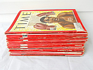 Time Magazine 1963 Collection 26 Issues Clay