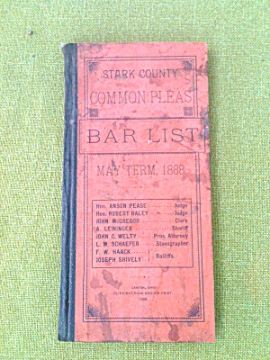 1888 Stark Co Ohio Bar List Courts Judges Etc