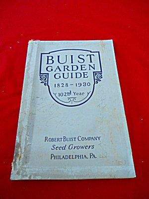 Buist Garden1930 Illustrated Seed Catalog