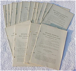 1931 West Virginia State Journals w/Org. Mail (Image1)