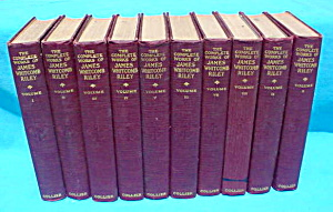 10 Vol. Set Works of James Whitcomb Riley (Image1)