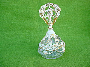 Perfume Bottle w/Metal Overlay (Image1)