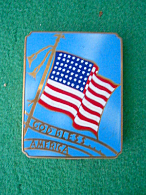 48 Star Flag God Bless America Woman Compact (Image1)