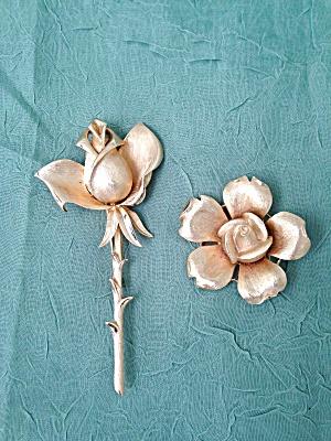 Pr. of Trifari Rose Brooch Pins (Image1)