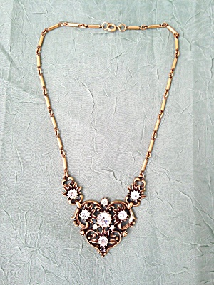 Coro Rhinestone Necklace (Image1)