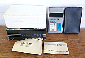Unisonic 733 Pocket Calculator W/box