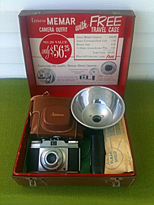 Unused Ansco Memar Camera Outfit w/Case (Image1)
