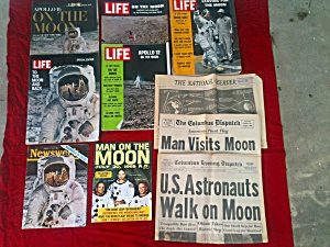 Apollo Man on Moon NASA Space Magazines Paper (Image1)