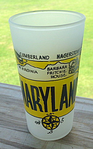 MARYLAND State Souvenir Glass  (Image1)