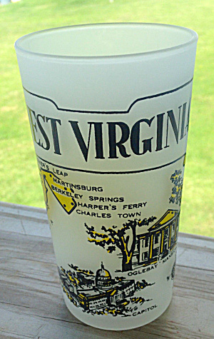 WEST VIRGINIA State Souvenir Glass  (Image1)
