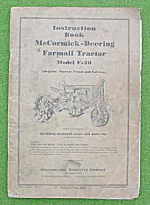 McCormick-Deering F-20 Tractor Manual (Image1)