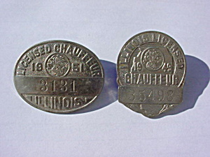 Pr. of Old Illinois Chauffeur Badges (Image1)