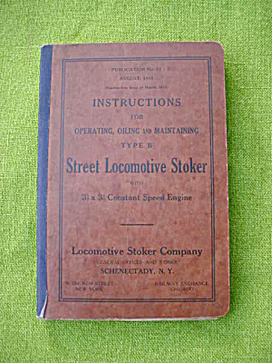 1915 Street Locomotive Stoker Manual (Image1)