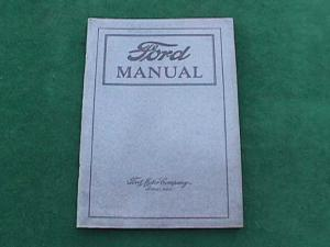 1922 Ford Owners/Operators Manual (Image1)